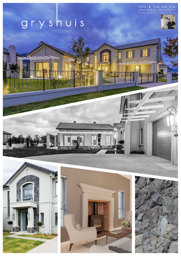 Grey House Colonial style houses by Abré Marais Architects Colonial