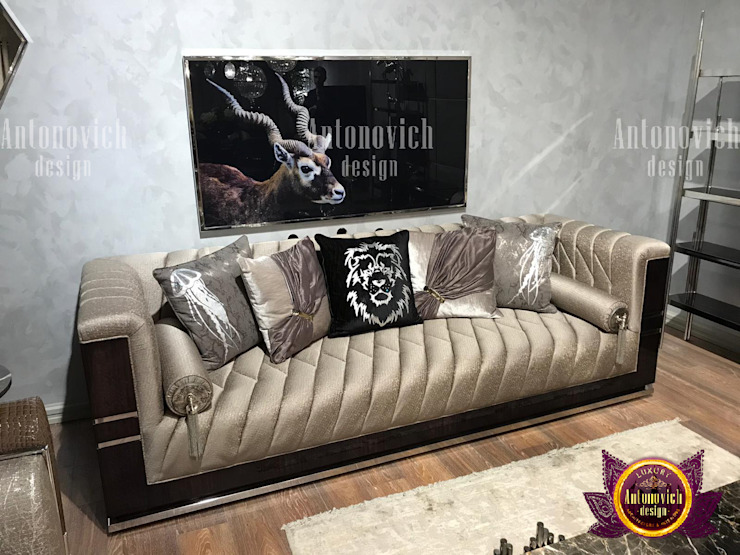 Personalized Cushion and Sofa Upholstery by Luxury Antonovich Design