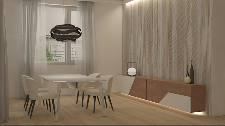 Sala pranzo Sala da pranzo moderna di Silvana Barbato Moderno