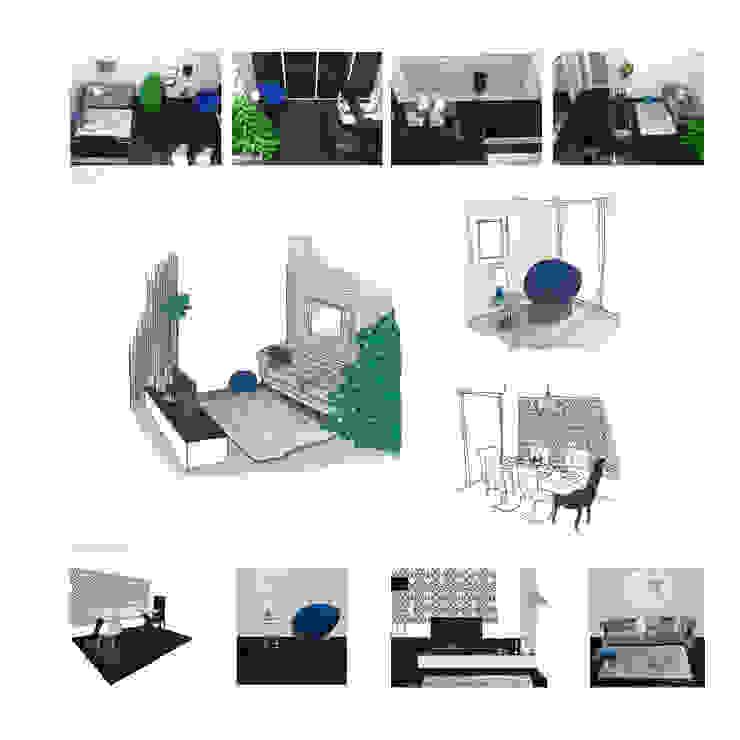 Decoração sala de natal – Praia da Vagueira /Aveiro por Sarah Paula - Interior Design Clássico