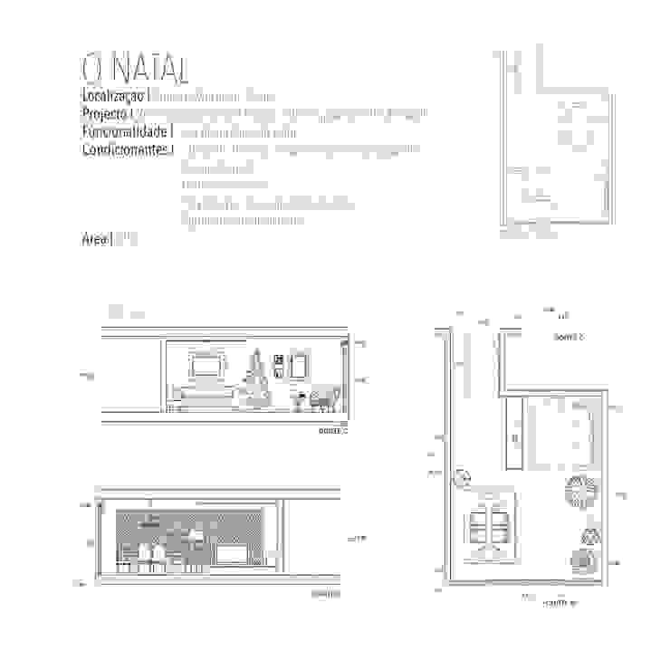 Decoração sala de natal - Praia da Vagueira /Aveiro por Sarah Paula - Interior Design Clássico