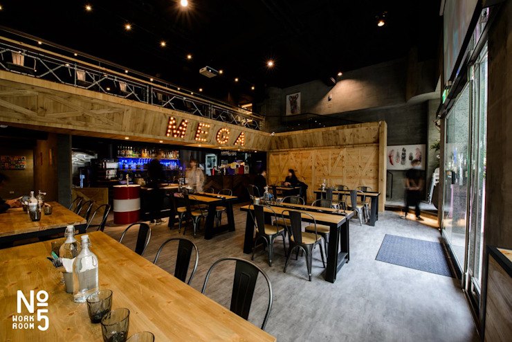 MEGA 美式風格餐廳設計 根據 NO5WorkRoom 工業風