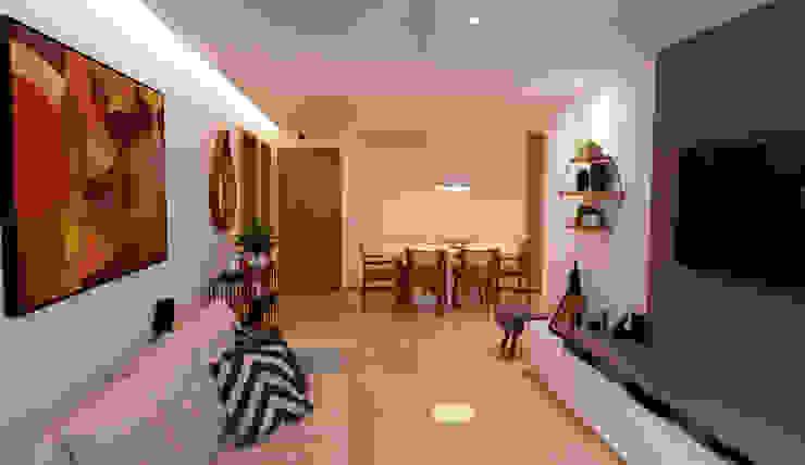 Sala de estar e jantar Salas de estar ecléticas por DV ARQUITETURA Eclético