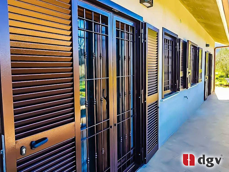 DGV metal srl Windows & doors Blinds & shutters Besi/Baja Brown