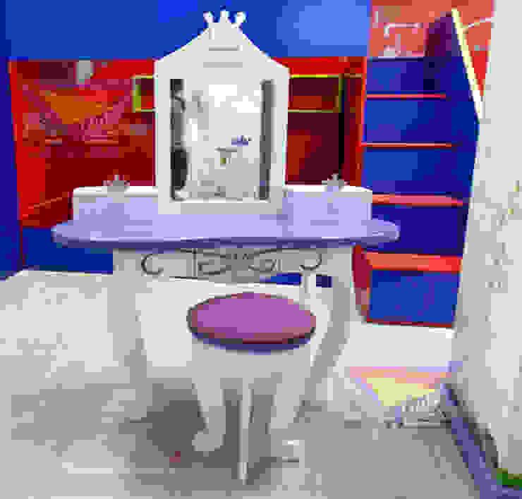 Coqueto tocador para princesas de camas y literas infantiles kids world Clásico Derivados de madera Transparente
