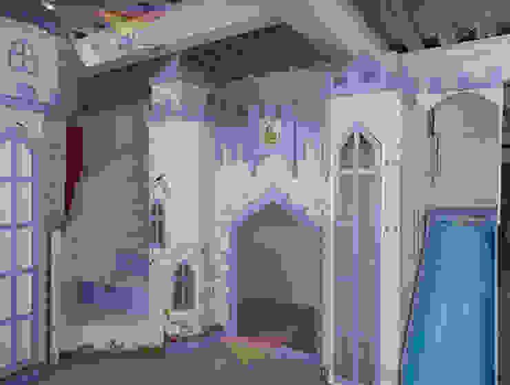 Precioso y exquisito castillo de camas y literas infantiles kids world Clásico Derivados de madera Transparente