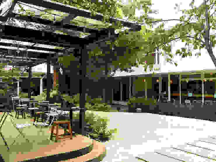 Jardín ODAP Polanquito Boceto Arquitectos Paisajistas Gastronomía de estilo minimalista