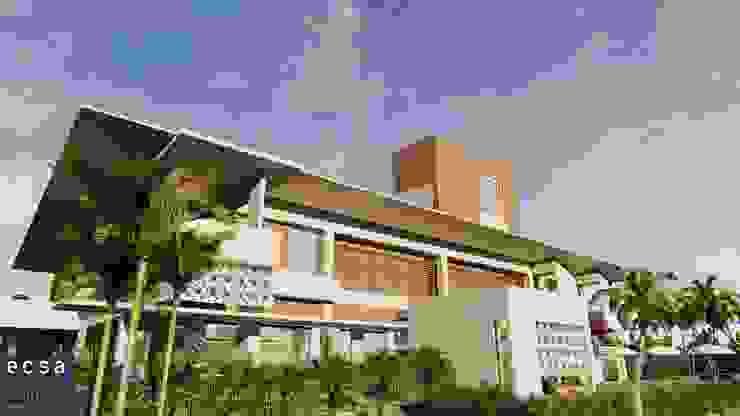 Exterior Rumah Tropis Oleh ECSA Studio Tropis