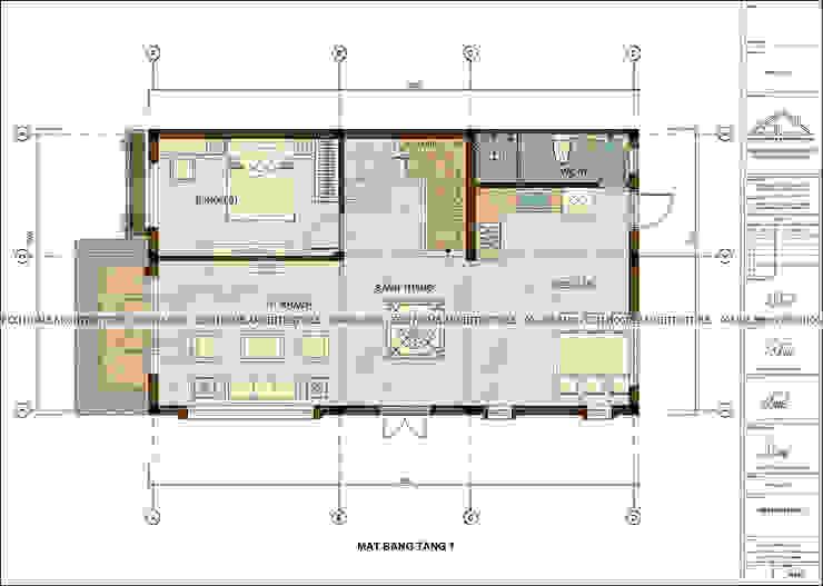 biệt thự hiện đại bởi Công ty CP kiến trúc và xây dựng Eco Home