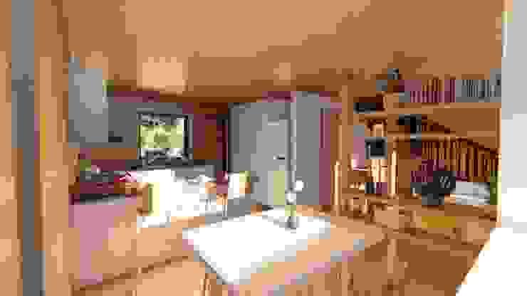 Diseño de Cabaña Rural en Coquimbo Comedores de estilo rural de Ekeko Arquitectura Rural