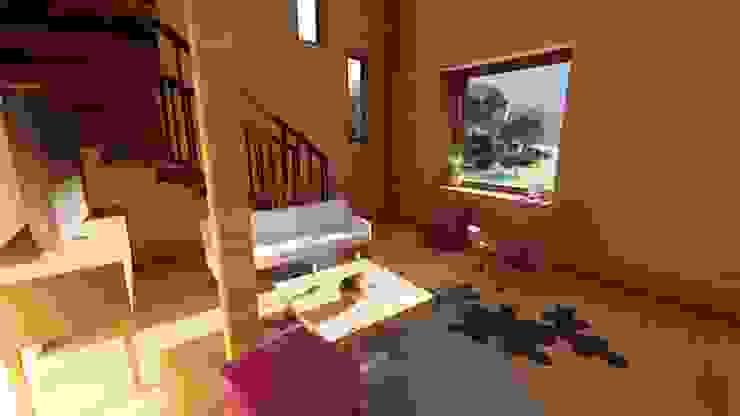Diseño de Cabaña Rural en Coquimbo Livings de estilo de Ekeko Arquitectura Rural