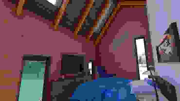 Diseño de Cabaña Rural en Coquimbo Dormitorios de estilo rural de Ekeko Arquitectura Rural
