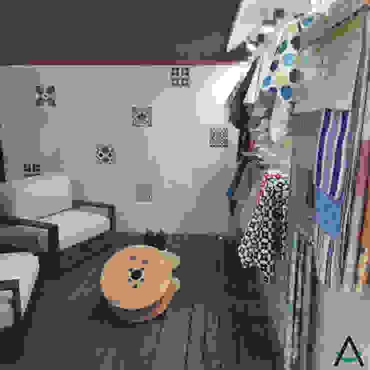 Estudi Aura, decoradores y diseñadores de interiores en Barcelona의 현대 , 모던 우드 우드 그레인