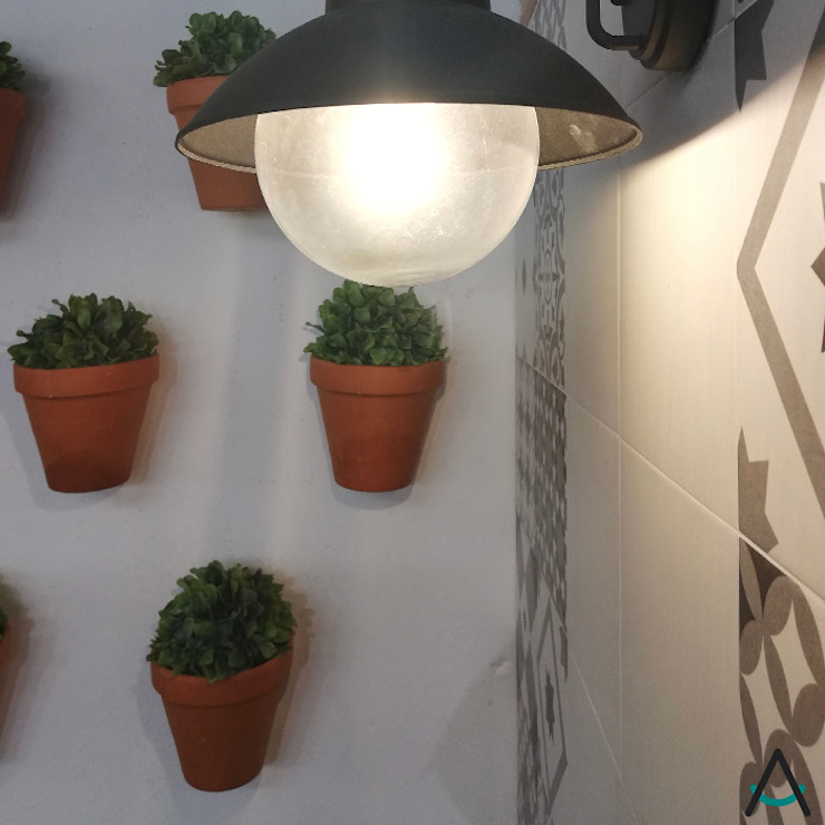 Estudi Aura, decoradores y diseñadores de interiores en Barcelona의 현대 , 모던 알루미늄 / 아연
