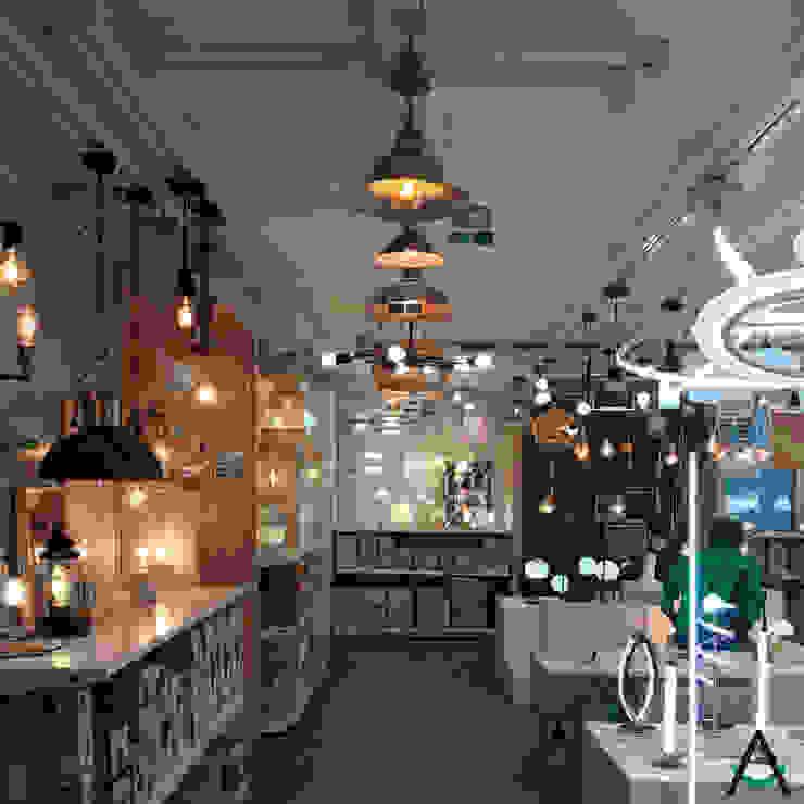 by Estudi Aura, decoradores y diseñadores de interiores en Barcelona 모던 우드 우드 그레인