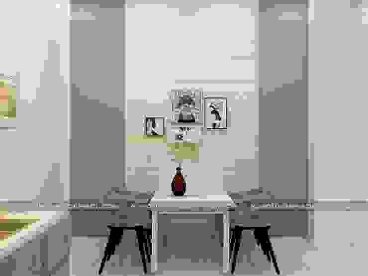 Nhà phố 1 trệt 2 lầu đẹp Phòng ăn phong cách hiện đại bởi Công ty xây dựng nhà đẹp mới Hiện đại
