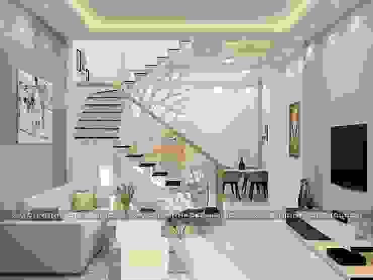 Nhà phố 1 trệt 2 lầu đẹp bởi Công ty xây dựng nhà đẹp mới Hiện đại