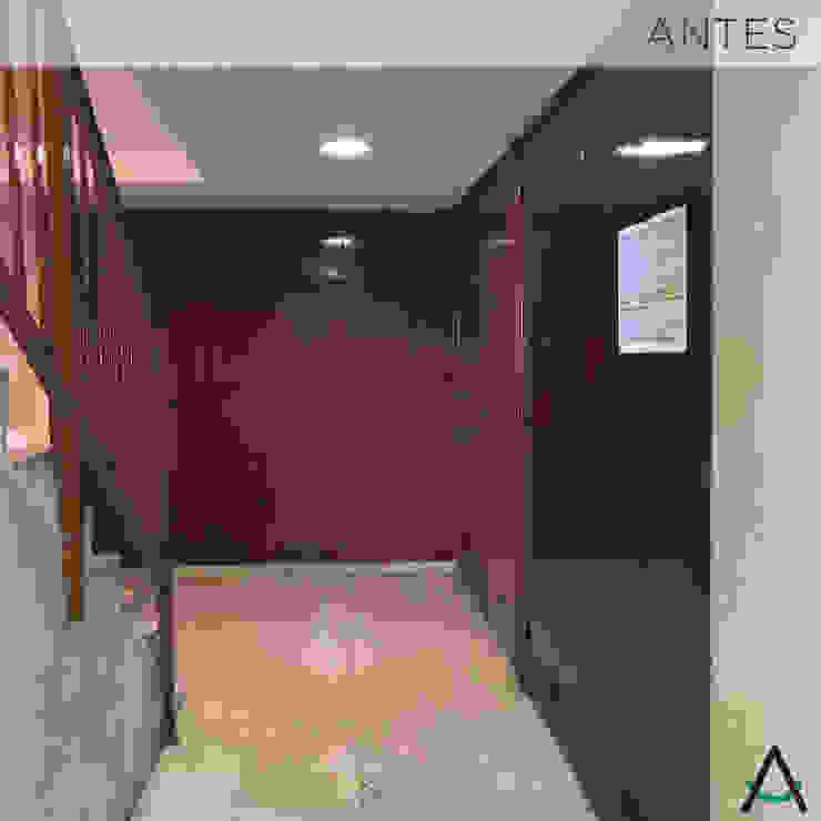 Modern corridor, hallway & stairs by Estudi Aura, decoradores y diseñadores de interiores en Barcelona Modern Wood Wood effect