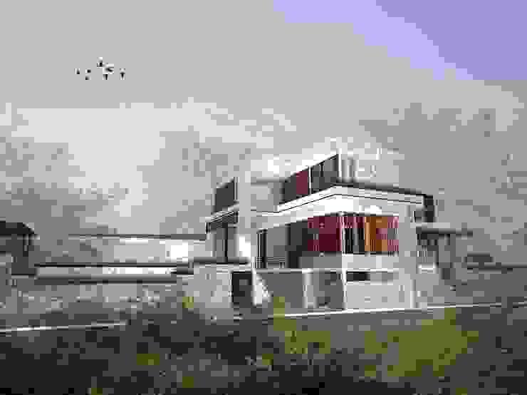 Keseluruhan konsep vila Oleh Tigha Atelier