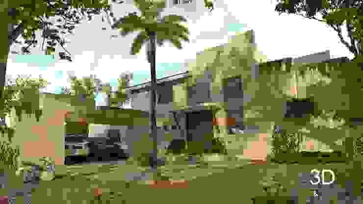 E+J Arquitectos Dom rustykalny Sklejka Beżowy