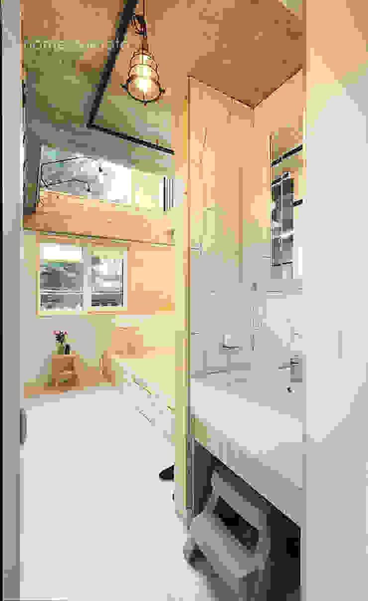 노출형식 건식세면대 모던스타일 욕실 by 주택설계전문 디자인그룹 홈스타일토토 모던