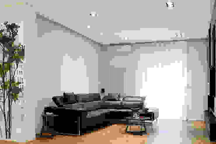 Fed House Architetto Valentina Longo Soggiorno in stile industriale