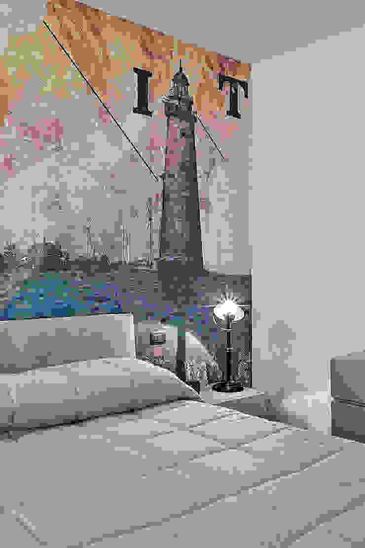 Fed House Architetto Valentina Longo Camera da letto in stile industriale