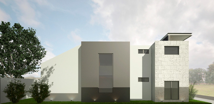 FACHADA LATERAL Casas modernas de Xome Arquitectos Moderno