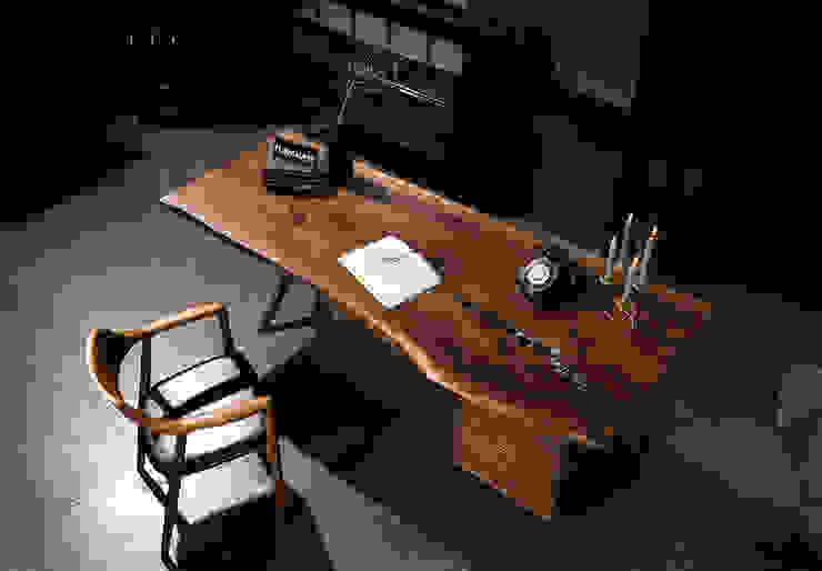 NK Walnut Wood Table by FURNIMASS (퍼니매스) 솔리드 우드 멀티 컬러