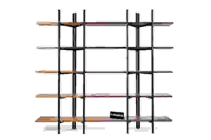 Walnut Folding Bookshelf by FURNIMASS (퍼니매스) 솔리드 우드 멀티 컬러