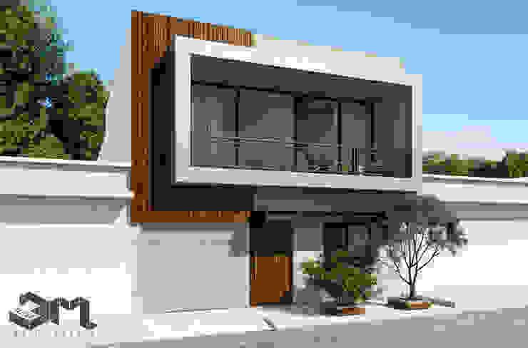 Fachada Casa / Saldaña - Tolima _ Colombia de Taller 3M Arquitectura & Construcción Minimalista Madera Acabado en madera