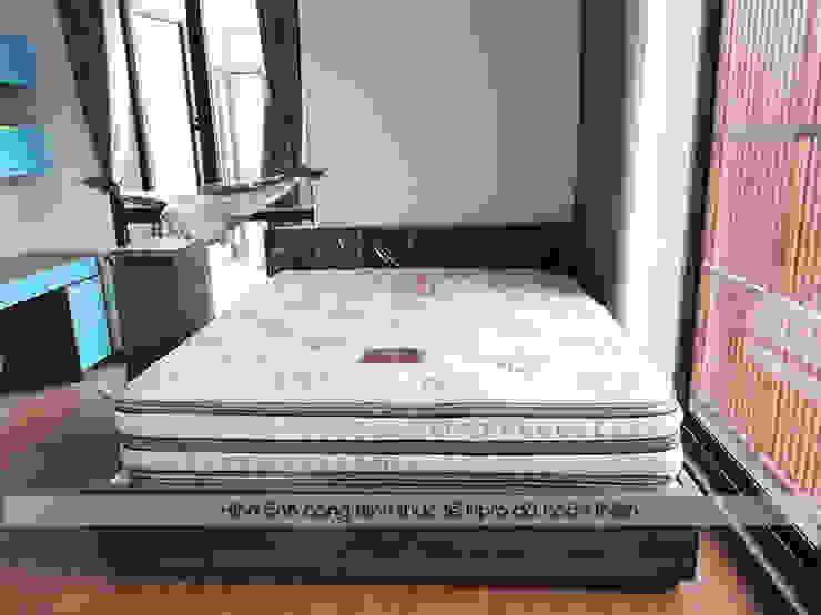 Ảnh thực tế giường ngủ melamine trong phòng ngủ của bé nhà anh Phương ở Thanh Hóa: hiện đại  by Nội thất Hpro, Hiện đại