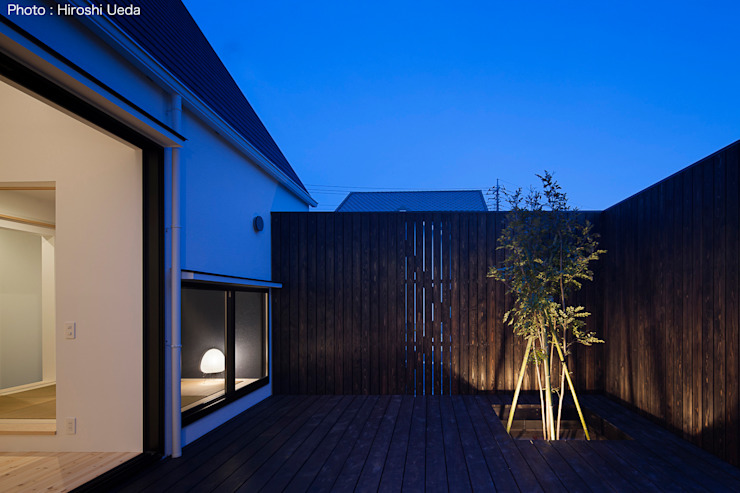 Vườn phong cách tối giản bởi 石川淳建築設計事務所 Tối giản Gỗ Wood effect