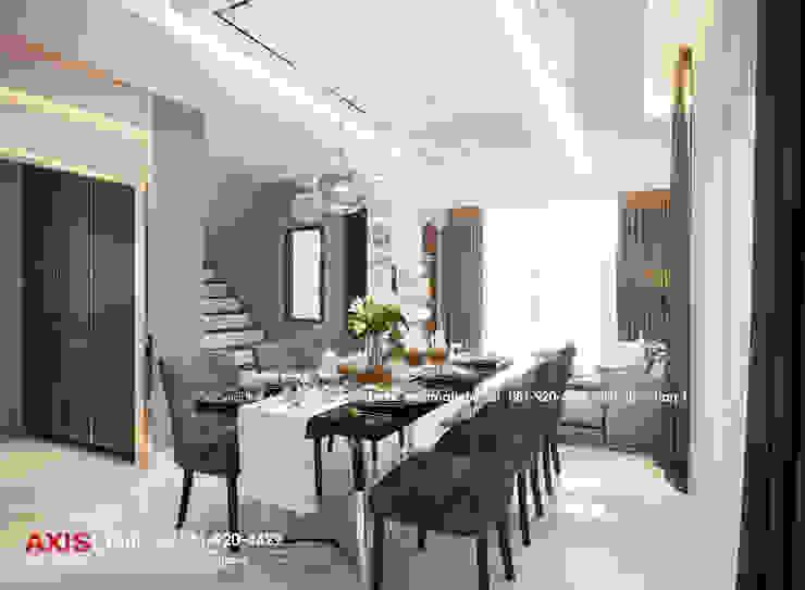Dining area : ออกแบบตกแต่งภายในบ้าน พร้อมรับเหมาครบวงจร (คุณปรีชา) : ทันสมัย  โดย บริษัทแอคซิสลาย จำกัด, โมเดิร์น