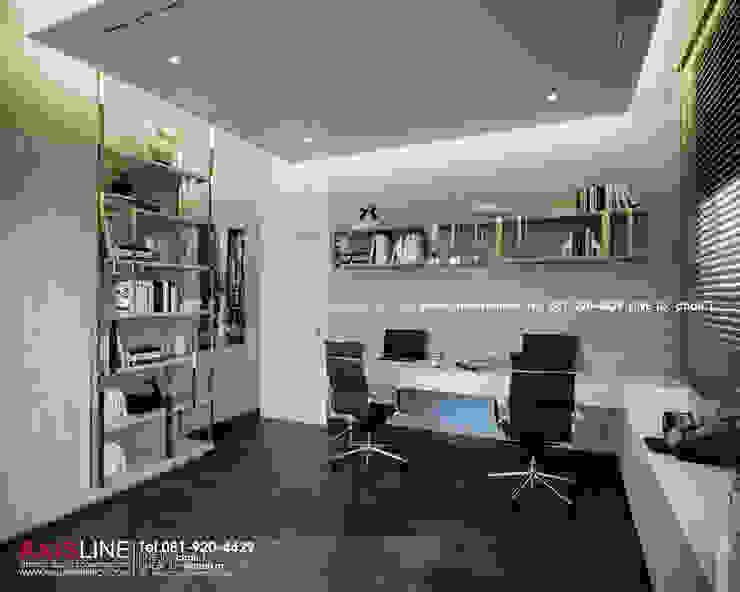 Working room : ออกแบบตกแต่งภายในบ้าน พร้อมรับเหมาครบวงจร (คุณปรีชา) : ทันสมัย  โดย บริษัทแอคซิสลาย จำกัด, โมเดิร์น