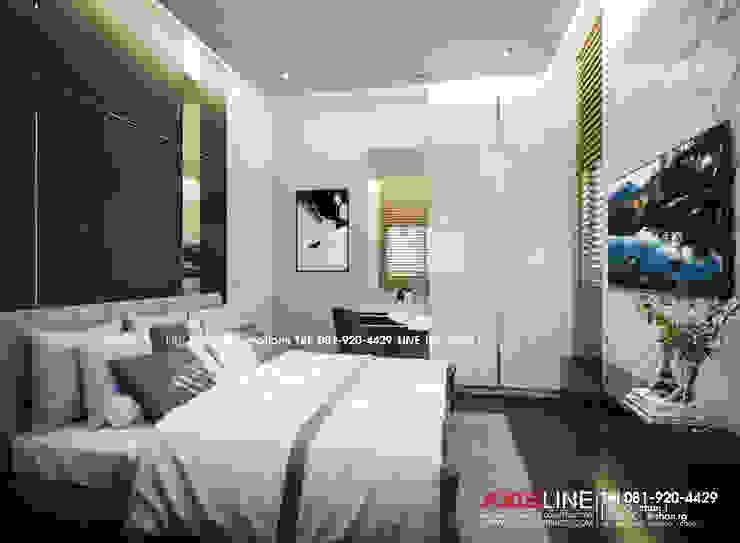 Bedroom : ออกแบบตกแต่งภายในบ้าน พร้อมรับเหมาครบวงจร (คุณปรีชา) : ทันสมัย  โดย บริษัทแอคซิสลาย จำกัด, โมเดิร์น