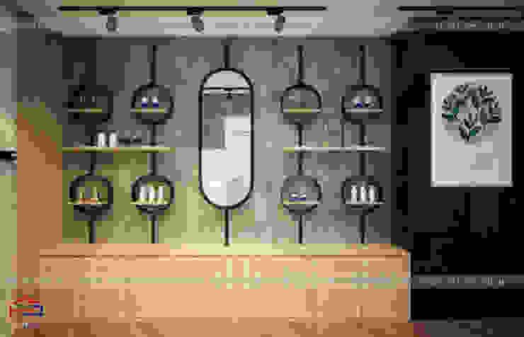 Ảnh thiết kế nội thất gỗ laminate khu trải nghiệm thực tế trong showroom: công nghiệp  by Nội thất Hpro, Công nghiệp