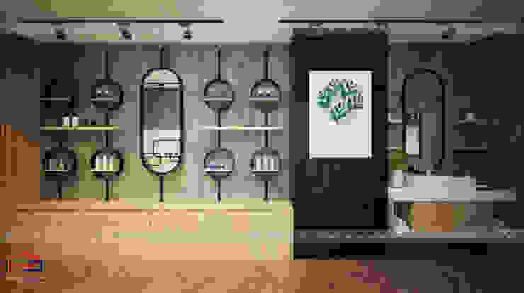 Ảnh thiết kế 3D nội thất gỗ laminate khu trải nghiệm thực tế trong showroom: công nghiệp  by Nội thất Hpro, Công nghiệp