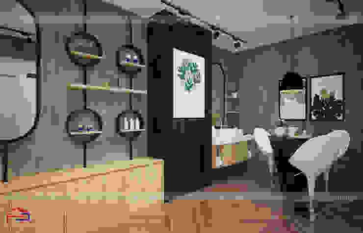 Ảnh thiết kế nội thất khu trải nghiệm thực tế sản phẩm nhà máy Kenly Jang: công nghiệp  by Nội thất Hpro, Công nghiệp
