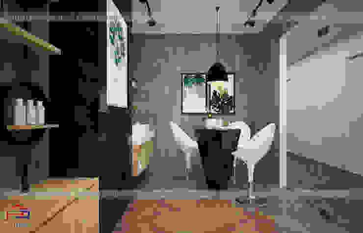Ảnh thiết kế nội thất gỗ laminate An Cường khu trải nghiệm thực tế trong showroom: công nghiệp  by Nội thất Hpro, Công nghiệp
