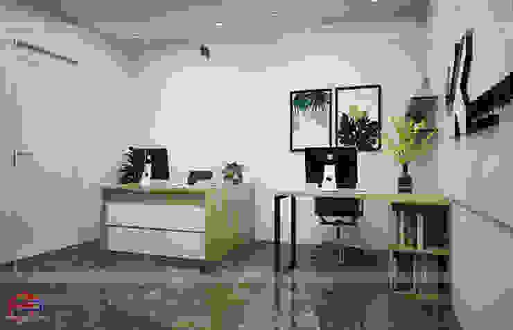 Ảnh thiết kế 3D nội thất gỗ laminate phòng thiết kế nhà máy Kenly Jang - view 2: công nghiệp  by Nội thất Hpro, Công nghiệp