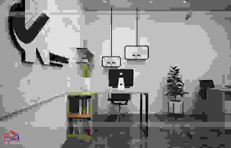 Ảnh thiết kế 3D nội thất gỗ laminate phòng thiết kế - view 3: công nghiệp  by Nội thất Hpro, Công nghiệp