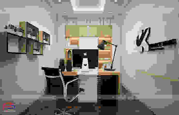 Ảnh thiết kế nội thất gỗ laminate phòng giám đốc - view 1: công nghiệp  by Nội thất Hpro, Công nghiệp