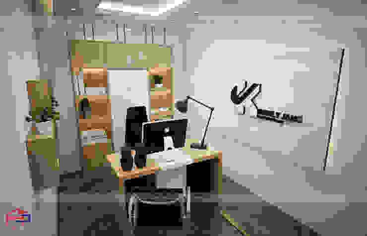 Ảnh thiết kế 3D nội thất gỗ laminate phòng giám đốc - view 3: công nghiệp  by Nội thất Hpro, Công nghiệp