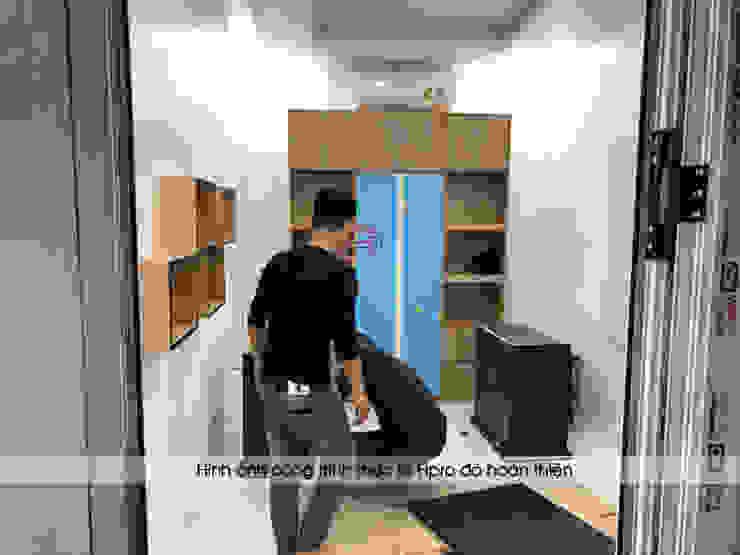 Hpro thi công lắp đặt nội thất gỗ laminate trong phòng làm việc của giám đốc nhà máy Kenly Jang: công nghiệp  by Nội thất Hpro, Công nghiệp
