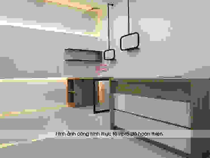 Hoàn thiện lắp đặt nội thất gỗ laminate phòng thiết kế: công nghiệp  by Nội thất Hpro, Công nghiệp