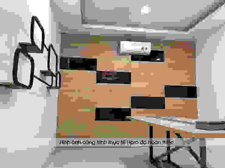 Ảnh thực tế nội thất gỗ laminate trong phòng họp nhà máy mỹ phẩm Kenly Jang: công nghiệp  by Nội thất Hpro, Công nghiệp