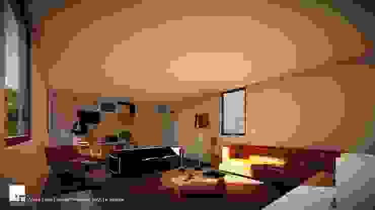 Diseño de casa Prototipo 240 en La Serena Livings de estilo moderno de Territorio Arquitectura y Construccion - La Serena Moderno
