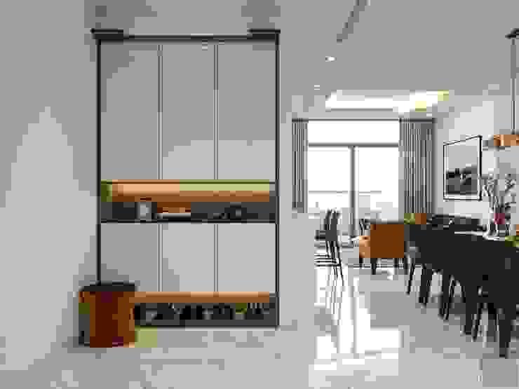 Thiết kế nội thất hiện đại tại căn hộ Landmark 4 - Khu đô thị Vinhomes Central Park bởi ICON INTERIOR Hiện đại