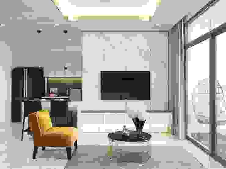 Thiết kế nội thất hiện đại tại căn hộ Landmark 4 – Khu đô thị Vinhomes Central Park bởi ICON INTERIOR Hiện đại